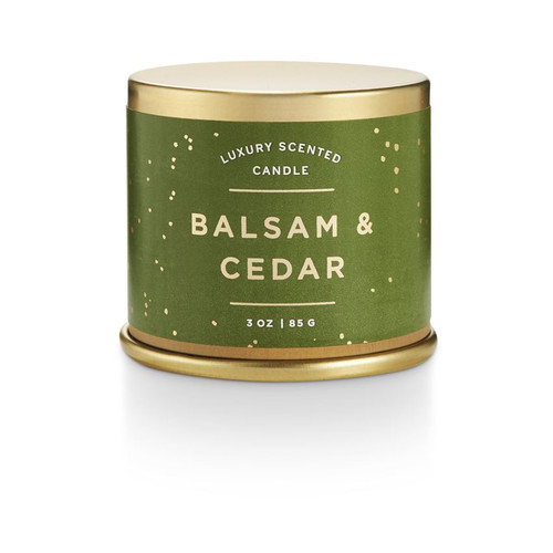 Balsam and Cedar Small Tin