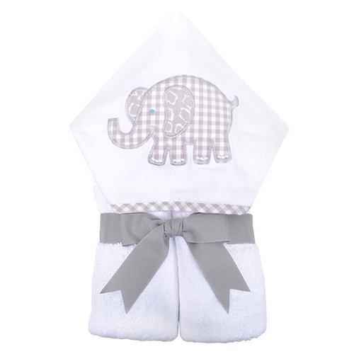 Gray Elephant Hooded Towel