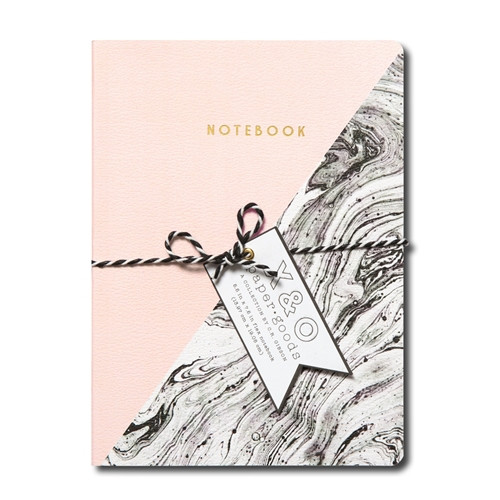 Pink marble flex journal