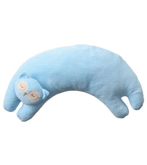 Blue Owl Curved Pillow