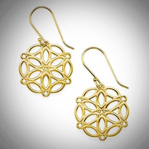 Circle of Life Mandala Earrings- Multiple Metals