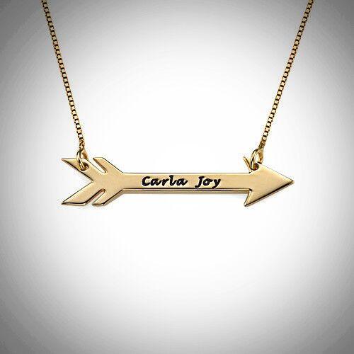 Arrow Name Necklace
