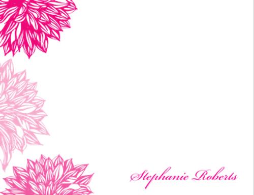 Pink Flower Flat Note