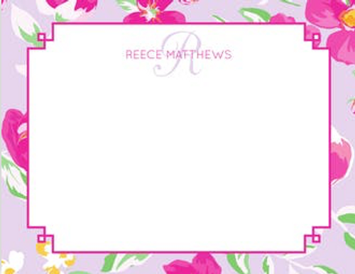 Beautiful Lilac Floral Flat Note