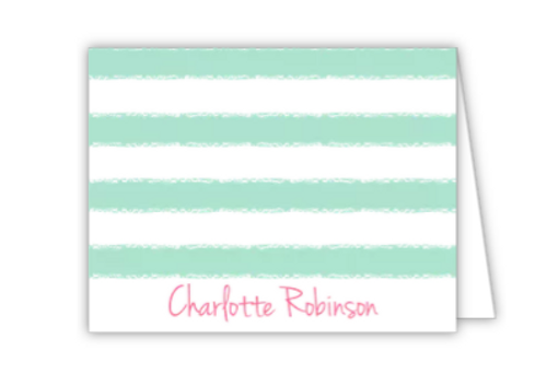 Mint Cabana Folded Note