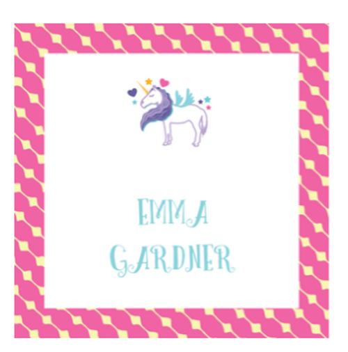 Unicorn Square Gift Sticker