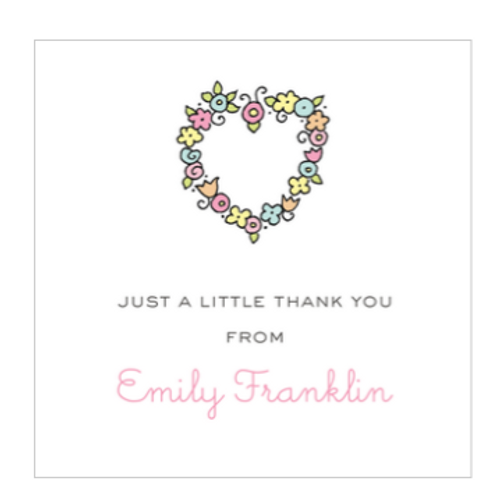 Floral Heart Gift Sticker
