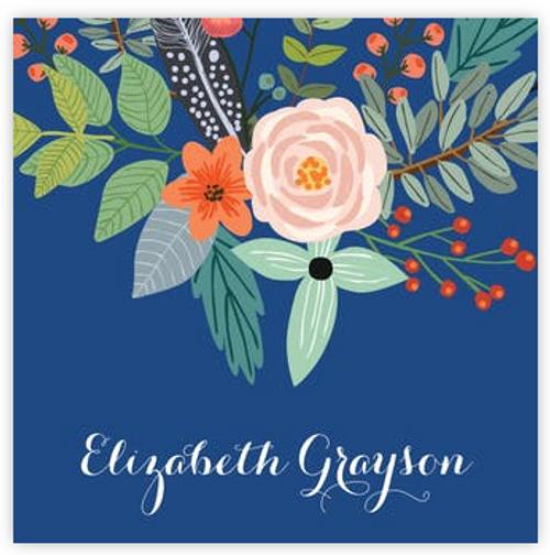 Feather & Flower Royal Sticker