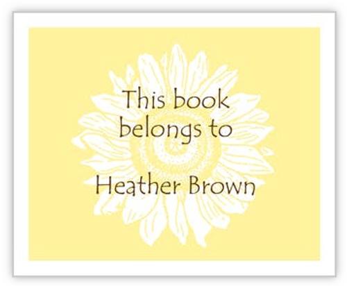 Sunflower Book Sticker
