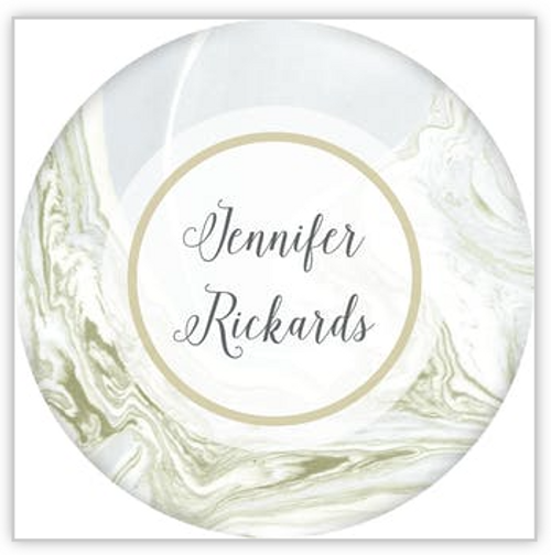 Shades of Gold Marbled Circle Sticker