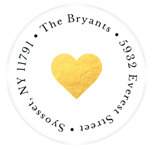 Heart of Gold Address Label