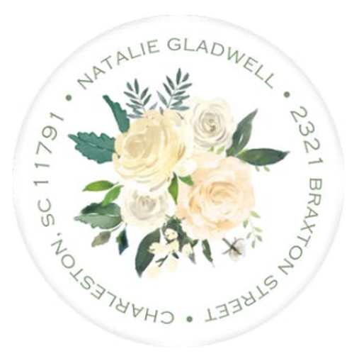 Bridal Blooms Address Label