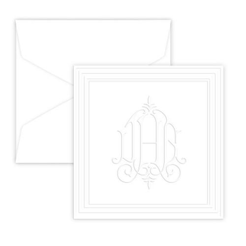 Embossed Henley Monogram Enclosure