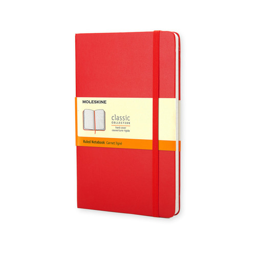 Scarlett Red Moleskine Classic Journal cover