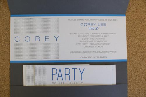 Corey Lee: Bar Mitzvah Invitation