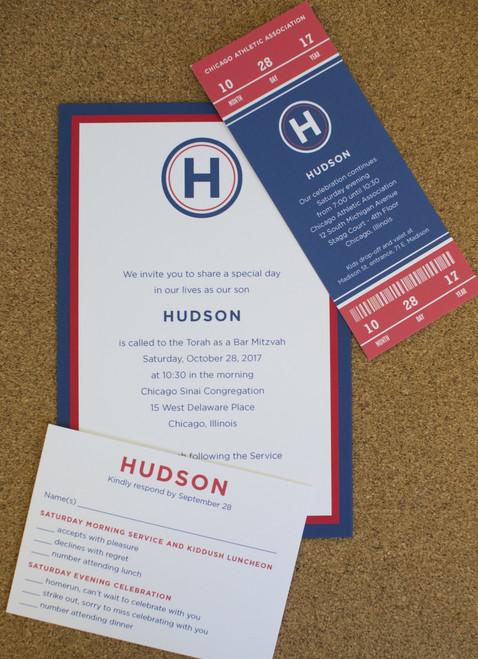 Hudson: Bar Mitzvah Invitation