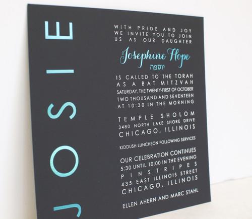 Josephine Hope: Bat Mitzvah Invitation