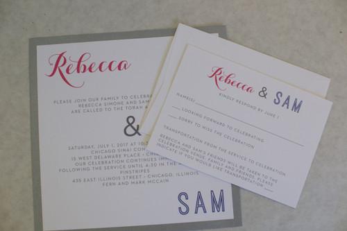 Rebecca and Sam: B'nai Mitzvah Invitation