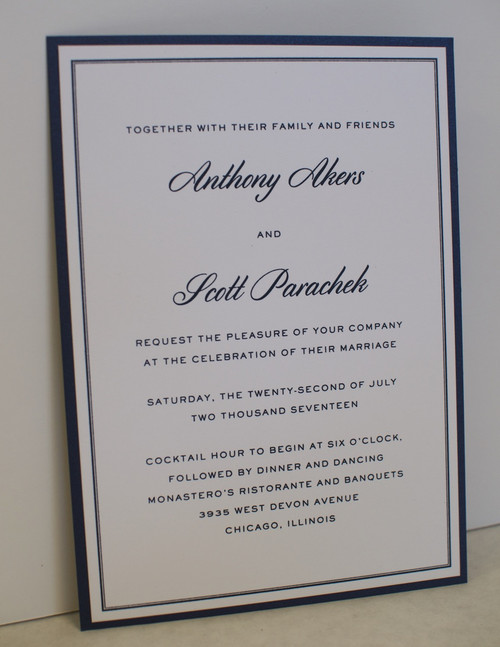 Anthony and Scott: Wedding Invitation