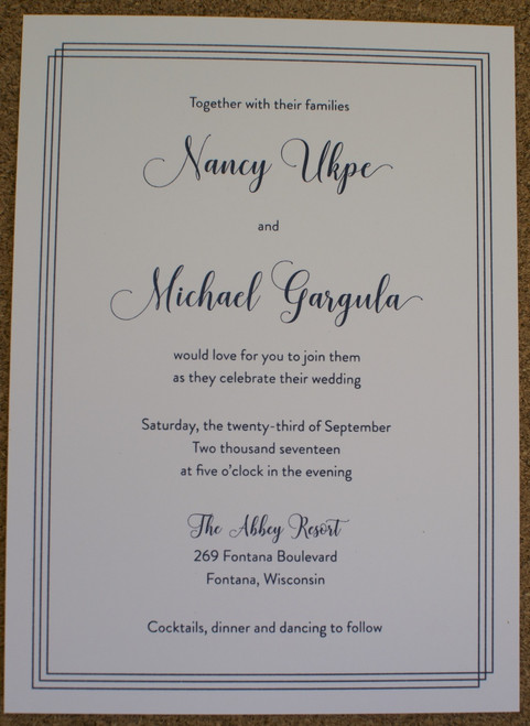 Nancy and Michael: Wedding Invitation