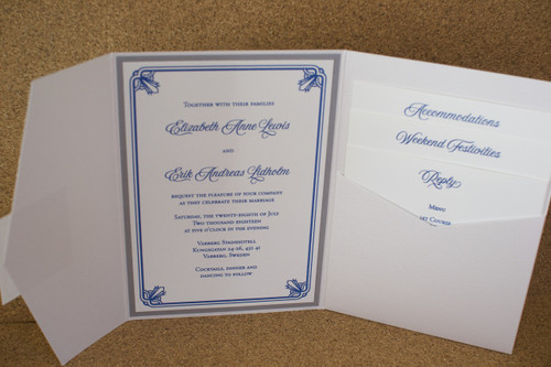 Elizabeth and Erik: Wedding Invitation