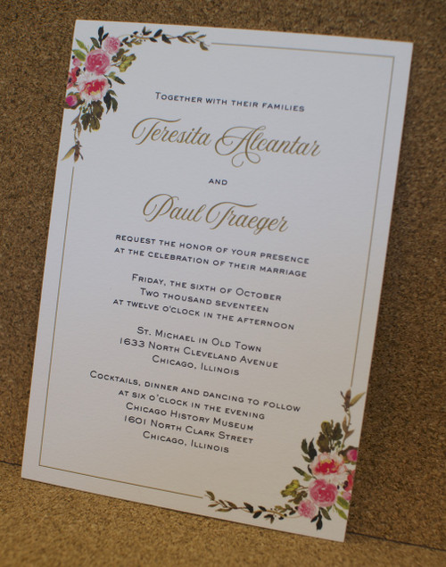 Teresita and Paul: Wedding Invitation