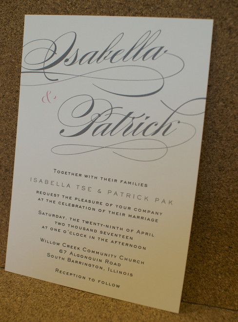 Isabella and Patrick: Wedding Invitation