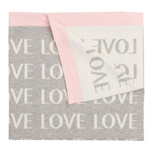 Pink Repeat Love Blanket
