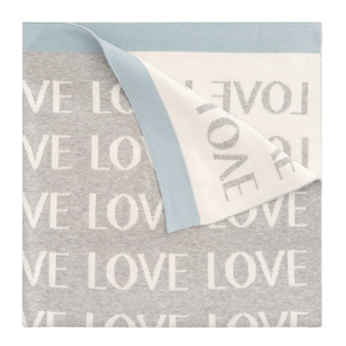 Blue Repeat Love Blanket
