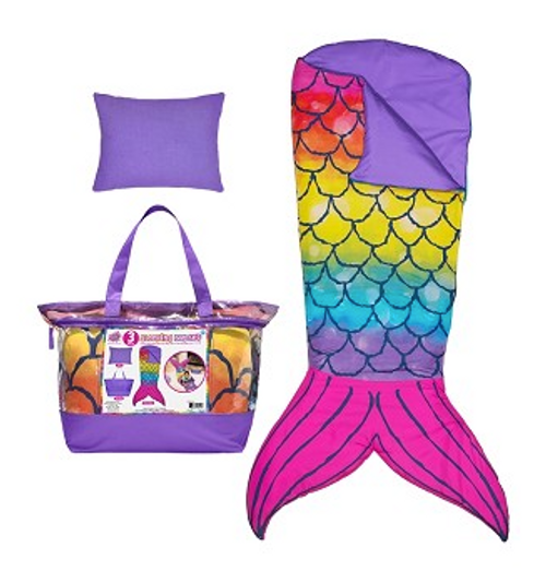 Mermaid Tail Sleeping Bag Set