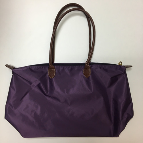Purple Nylon Tote