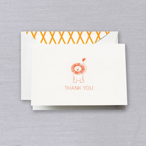 Clementine Lion Thank You Note