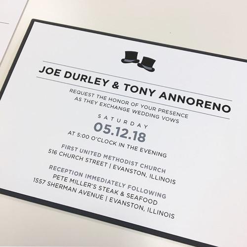 Joe and Tony: Wedding Invitation