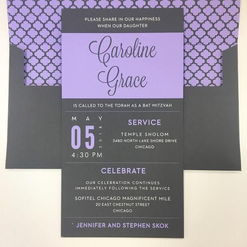 Caroline: Bat Mitzvah Invitation