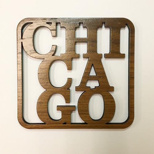Chicago Wooden Coaster Set