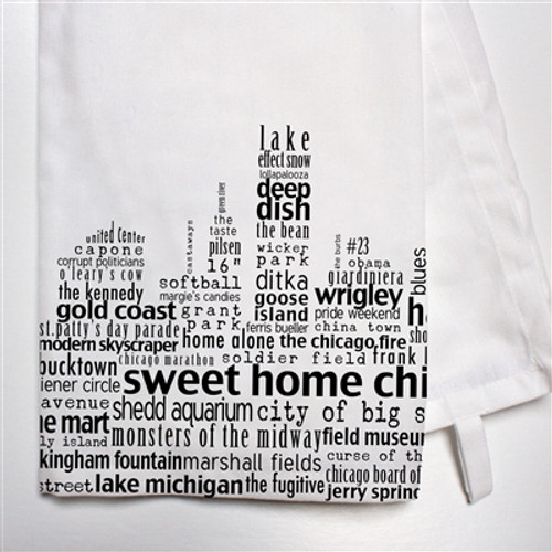 Chicago Skyline Dish Towel