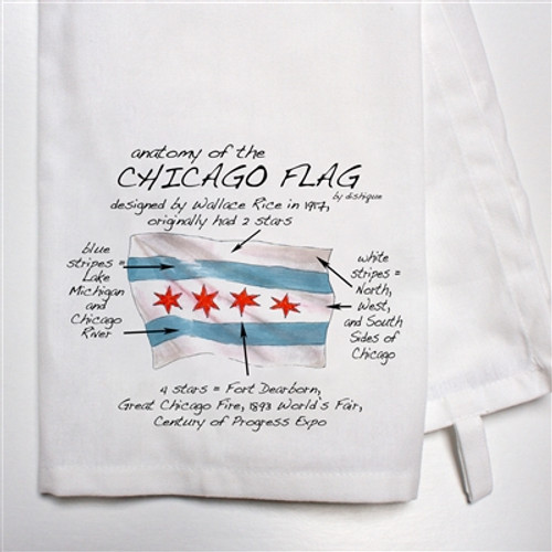 Chicago Flag Dish Towel