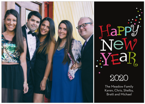 Happy New Year Holiday Card