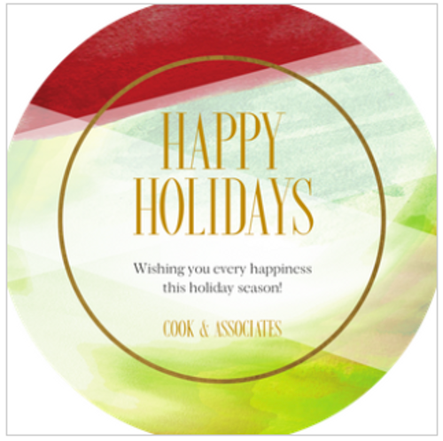 Shades of Red and Green Holiday Greeting Card