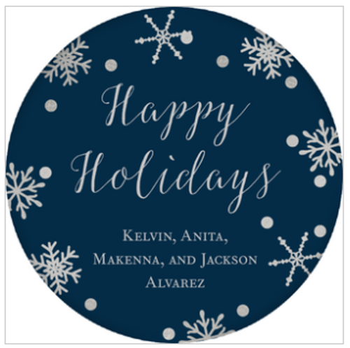 Snowflake Holiday Gift Sticker