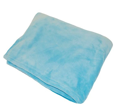 Aqua Flannel Fleece Throw Blanket