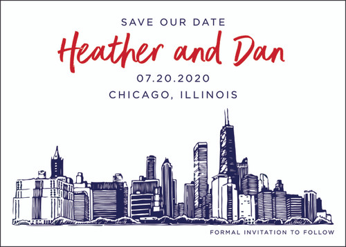 Drawn Skyline: Save The Date