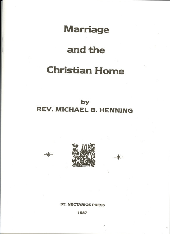 MARRIAGE AND THE CHRISTIAN HOME