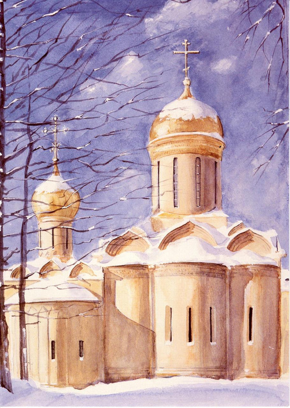 Holy Trinity Cathedral & The Nikon Chapel, Monastery of the Holy Trinity and St. Sergius. Zagorsk, Russia