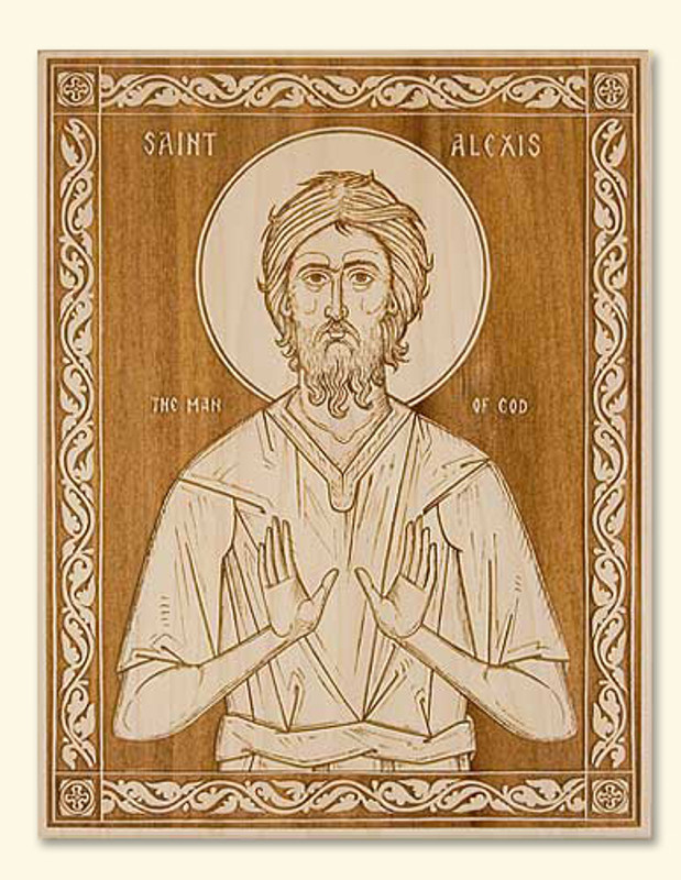 LASER ENGRAVED ICON - ST ALEXIS