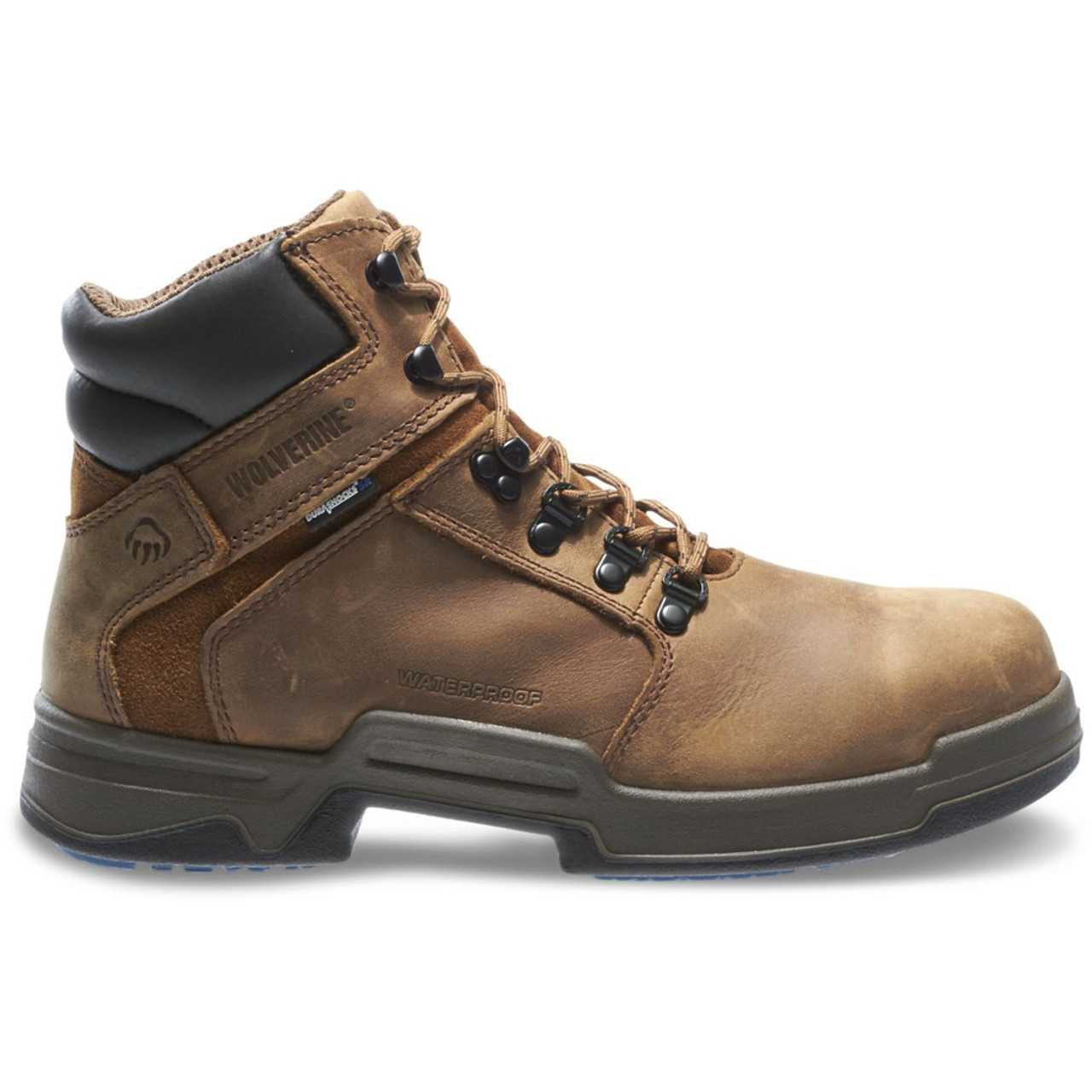 Wolverine W10213 Mens Griffin Durashocks SR 6 SteelToe EH Waterproof  Work Boot