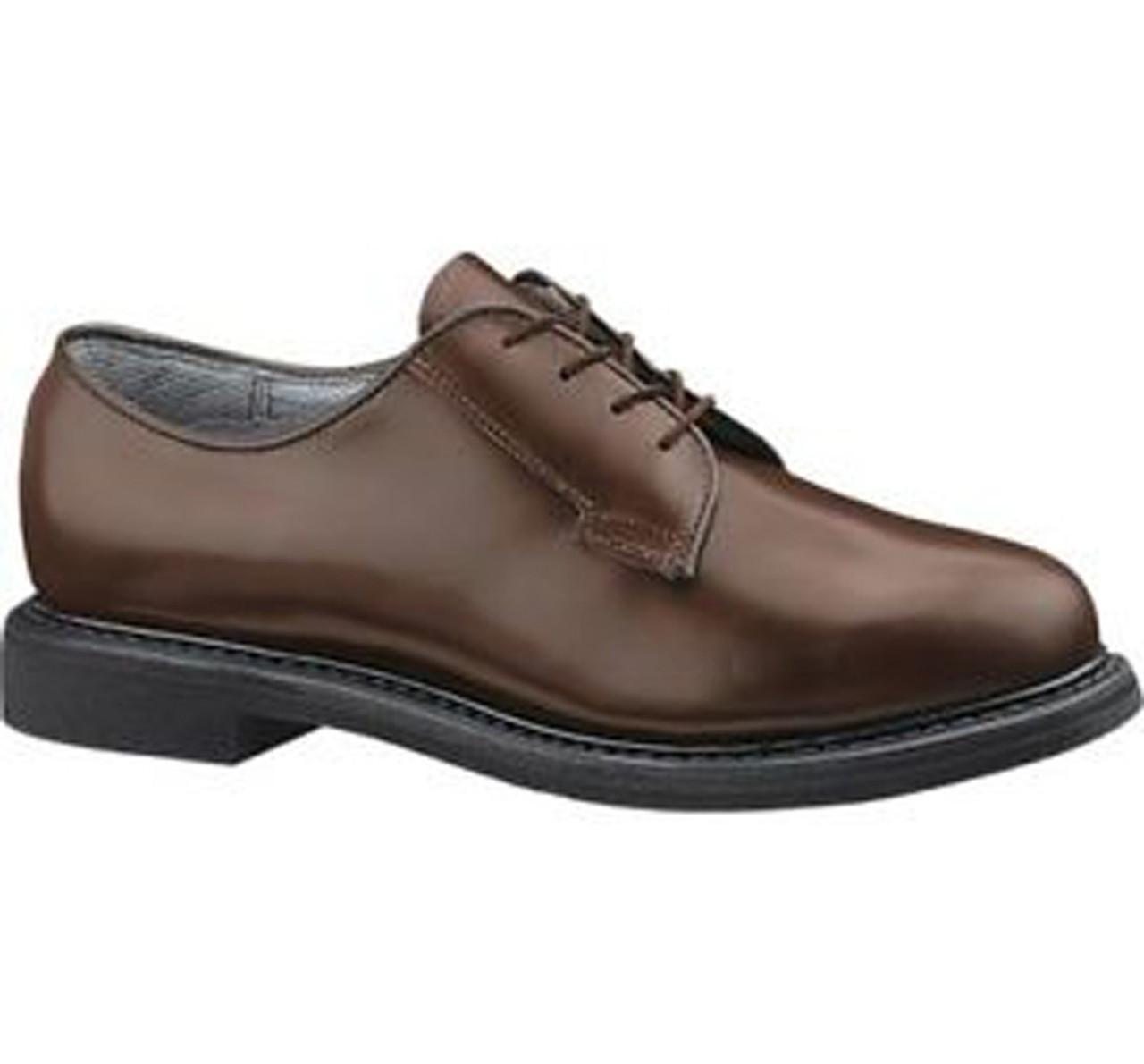 Bates 82-B Mens Lites Brown Leather Uniform Oxford Shoe FAST FREE USA SHIPPING