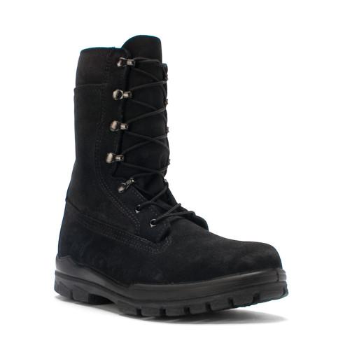 Bates 1778-B Womens US Navy Durashocks Black Suede Steel Toe Work Boot