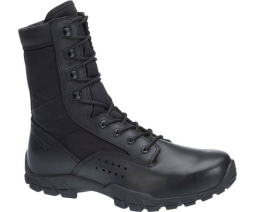 "Bates 22681 Mens Cobra 8"" Black  Side Zip Hot Weather Jungle Boot"
