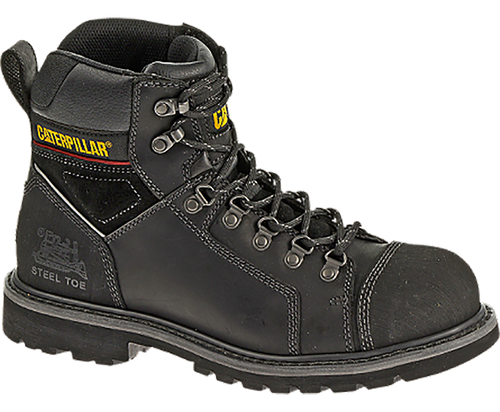 "Catepillar P90447 Mens Tracklayer 6"" Steel Toe Black Work Boot"